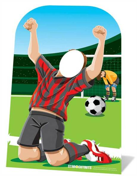 World Cup Footballer Child Size Stand-in Cutout
