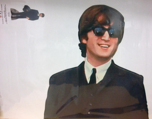John Lennon Cutout Close Up
