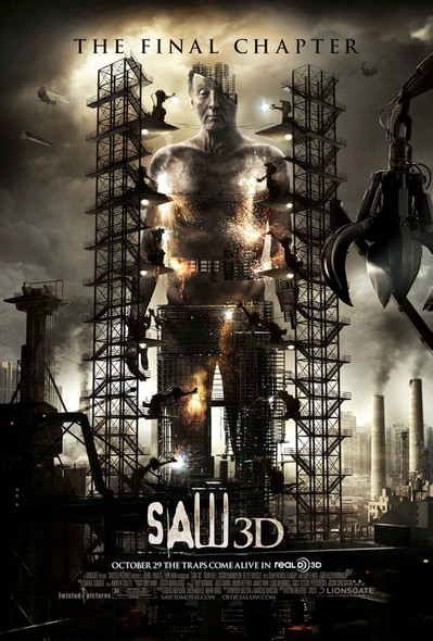 SAW 3D Poster double sided REGULAR (2010) ORIGINAL CINEMA POSTER