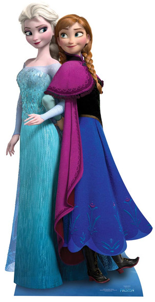 Anna and Elsa from Frozen Cardboard Cutout