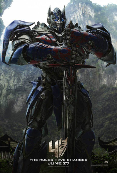 Transformers Age Of Extinction (Optimus Prime) Original Movie Poster One Sheet