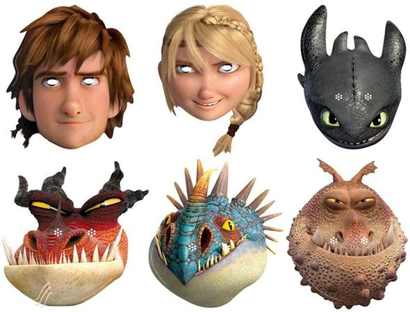 How To Train Your Dragon 2 - Variety Party Face Mask Set of 6