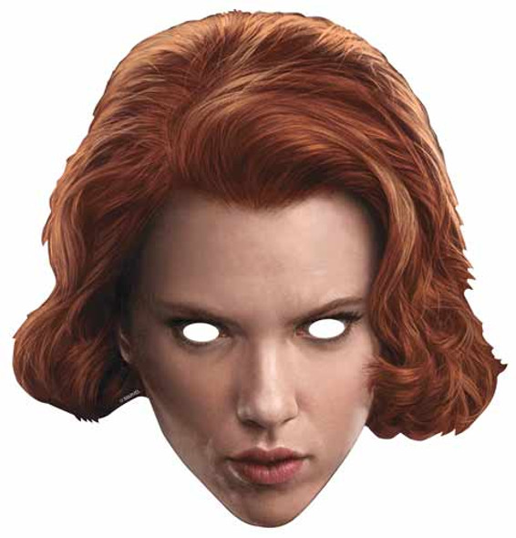Black Widow Marvel Age of Ultron Single Card Mask