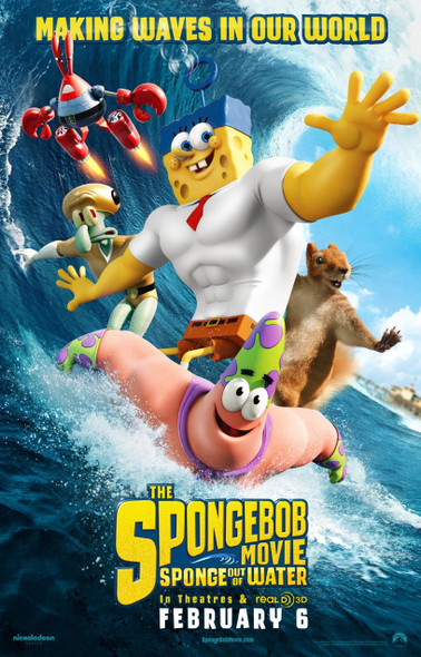 Spongebob Movie Sponge Out Of Water Movie Poster