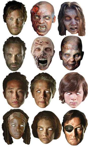 The Walking Dead Ultimate Face Mask Pack of 12