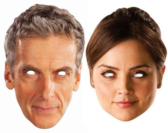 12th Doctor Who and Clara Oswald Face Mask 2 Pack