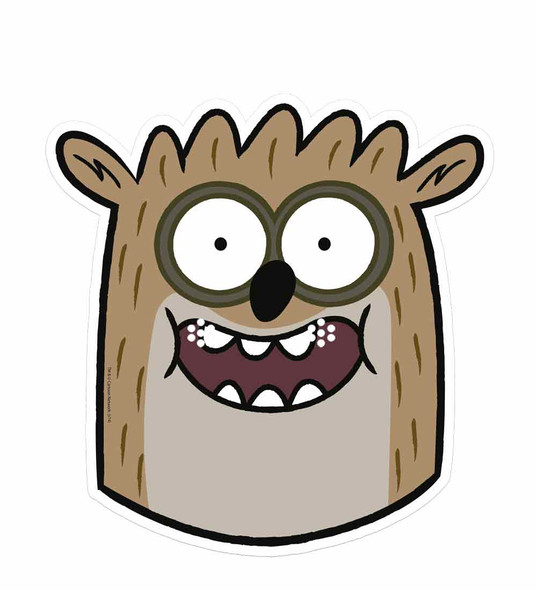Rigby Regular Show Card Face Mask Single