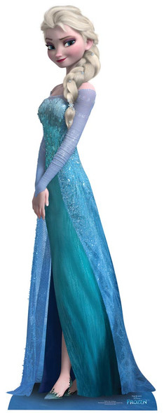 Elsa from Frozen Mini Cardboard Cutout