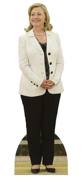 Hillary Clinton White Jacket Cardboard Cutout
