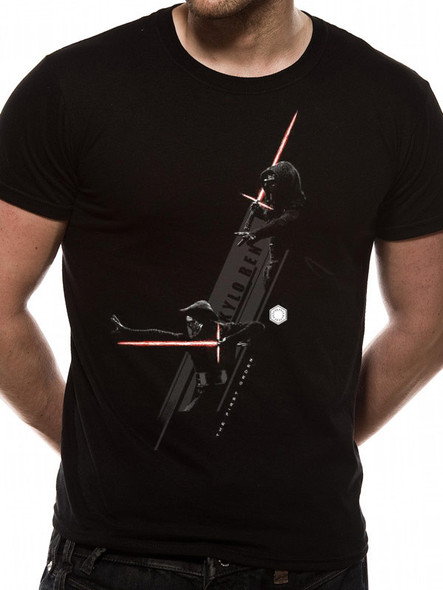 Star Wars: The Force Awakens Kylo Ren Battle Stance Official Unisex T-Shirt