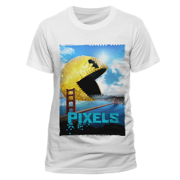 Pixels Movie Pac-Man Eating San Francisco Official Unixsex T-shirt