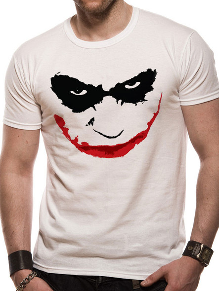 Batman The Dark Knight Joker Smile Logo Official Unisex T-Shirt