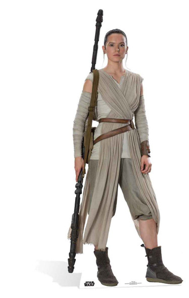 Rey Star Wars: The Force Awakens Lifesize Cardboard Cutout