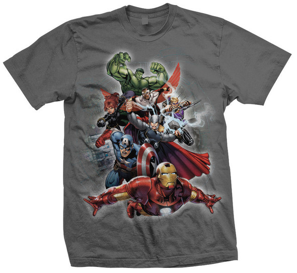 Marvel Comics Big Action Group Official Unisex T-Shirt