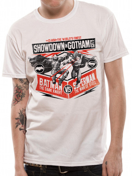 Batman v Superman Showdown in Gotham City Dawn of Justice Official T-Shirt