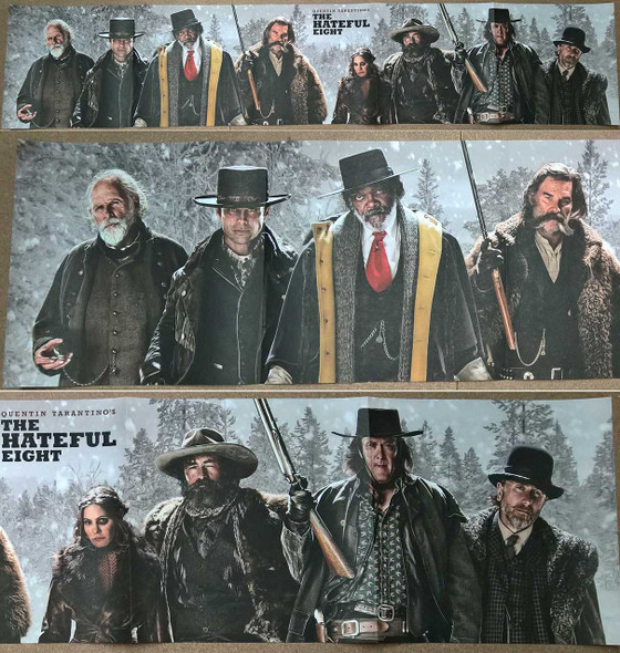 The Hateful Eight Ultra Rare Wide Panoramic Original Movie Poster
