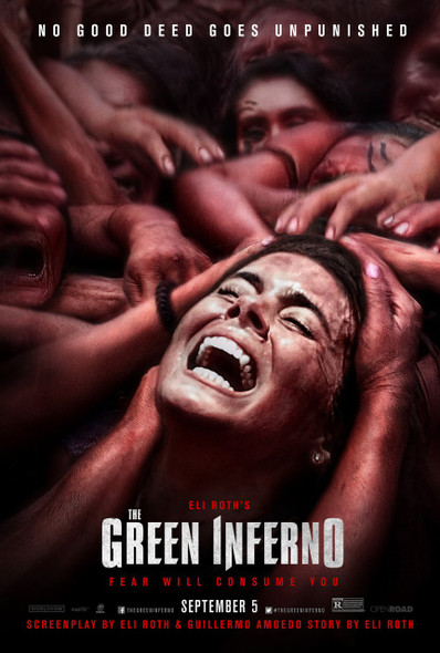 The Green Inferno Rare Withdrawn Original Movie Poster