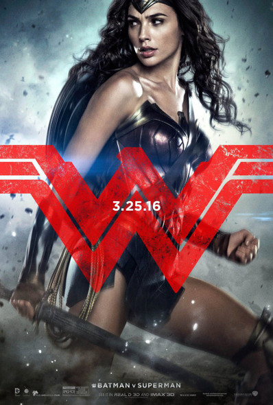 Batman V Superman Dawn Of Justice Original Movie Poster - Advance Style Wonder Woman