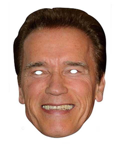 Arnold Schwarzenegger Celebrity Card Party Face Mask