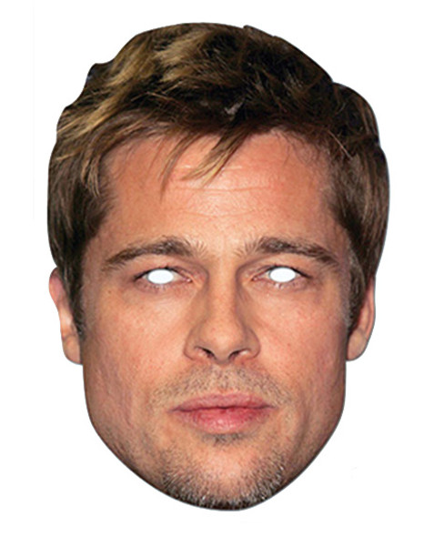 Brad Pitt Celebrity Card Party Face Mask