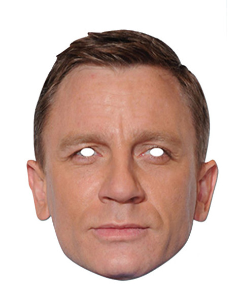 Daniel Craig Celebrity James Bond Card Party Face Mask