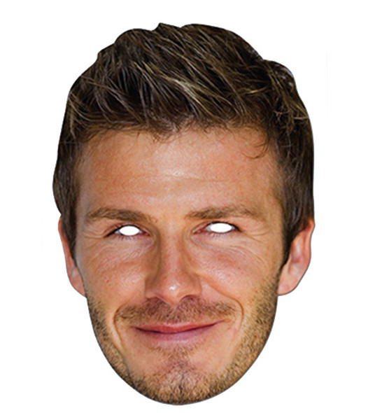 David Beckham Celebrity Card Party Face Mask