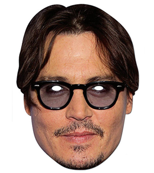Jonny Depp Celebrity Card Party Face Mask