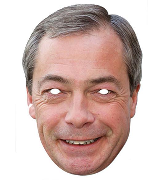 Nigel Farage UKIP Leader Celebrity Card Party Face Mask