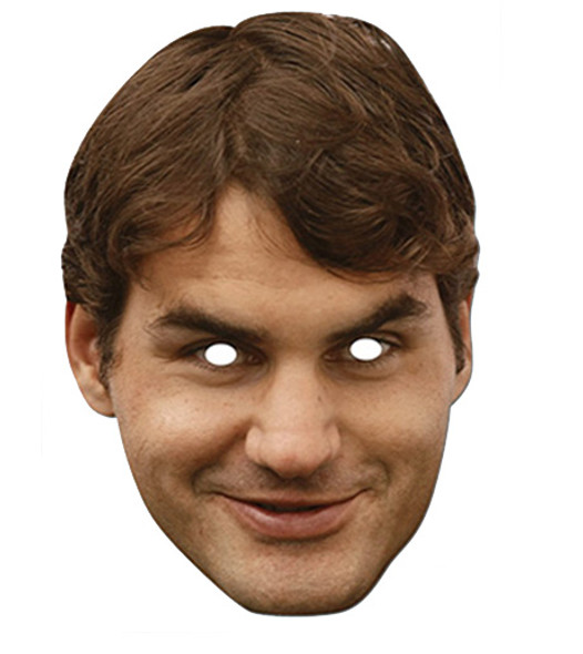 Roger Federer Celebrity Card Party Face Mask