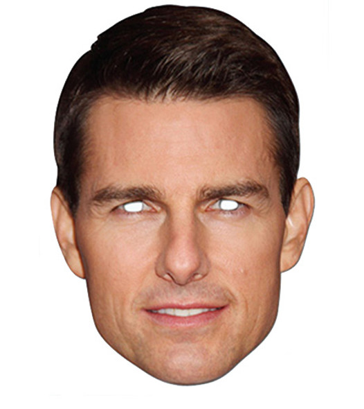 Tom Cruise Celebrity Card Party Face Mask