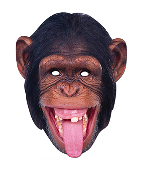Chimpanzee Monkey Animal Card Party Face Mask