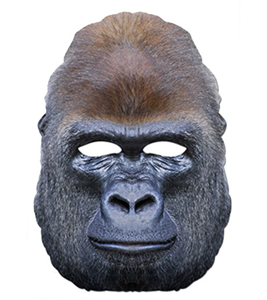 Gorilla Ape Animal Card Party Face Mask