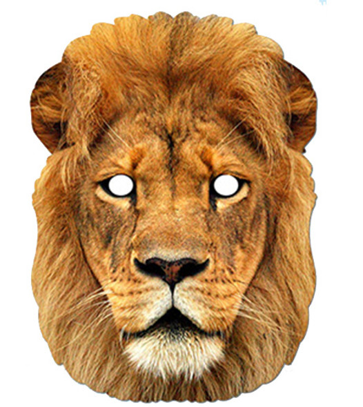 Lion Animal Card Party Face Mask