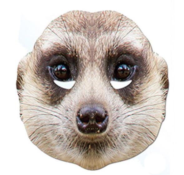 Meerkat Animal Card Party Face Mask