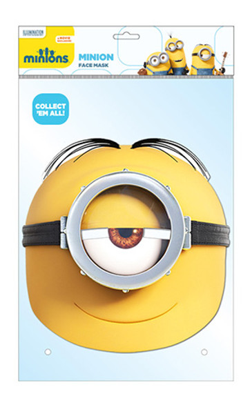 Minion Stuart Official Minions Card Party Face Mask