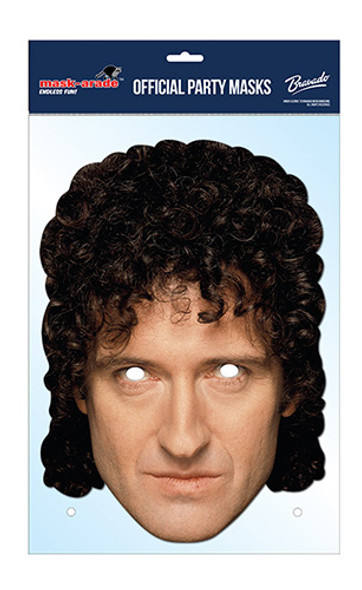 Brian May Official Queen Card Party Face Mask