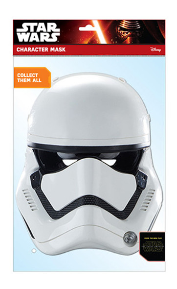 First Order Stormtrooper Official Star Wars The Force Awakens Card Party Face Mask