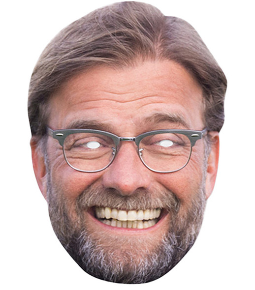 Jurgen Klopp Celebrity Football 2D Card Party Face Mask