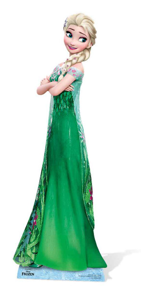 Elsa from Frozen Fever Cardboard Cutout