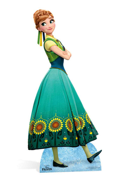 Anna from Frozen Fever Cardboard Cutout