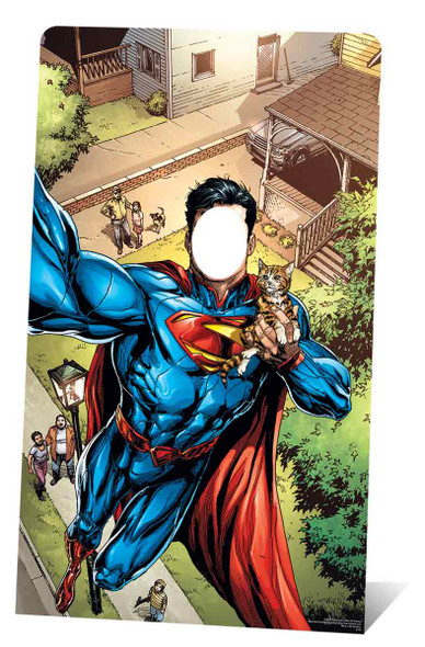 Superman Selfie Stand In Lifesize Cardboard Cutout
