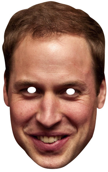 Prince William Duke of Cambridge Card Face Mask