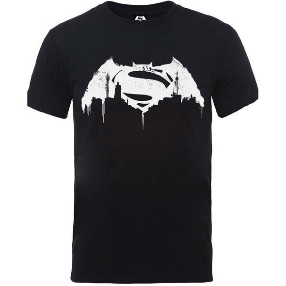 Batman v Superman Beaten Logo T-Shirt