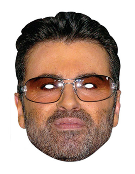 George Michael Celebrity Single Card Party Face Mask