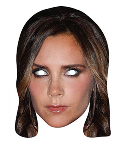 Victoria Beckham Celebrity Single Card Party Face Mask