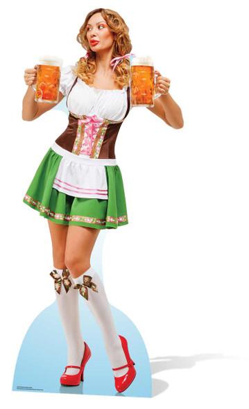 Oktoberfest Beer Babe Lifesize Cardboard Cutout