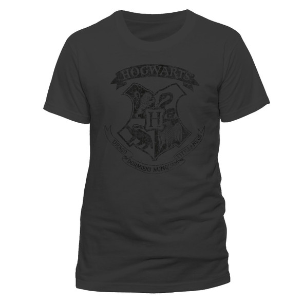 Harry Potter Hogwarts Distressed Crest Official Unisex T-Shirt