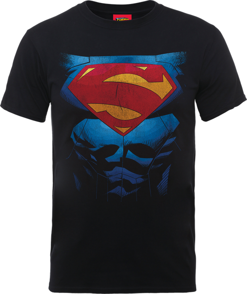 Superman DC Pectacular Logo Official Black Unisex T Shirt
