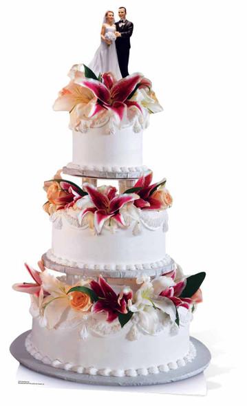 Glamorous Wedding Cake Cardboard Cutout / Standee / Stand Up