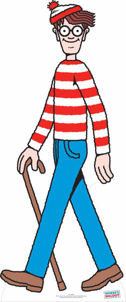 Where's Wally? Lifesize Cardboard Cutout